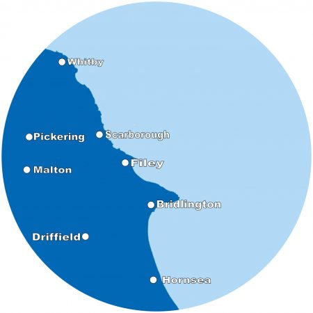 Map of Yorkshire Coast Directory Area Coverage